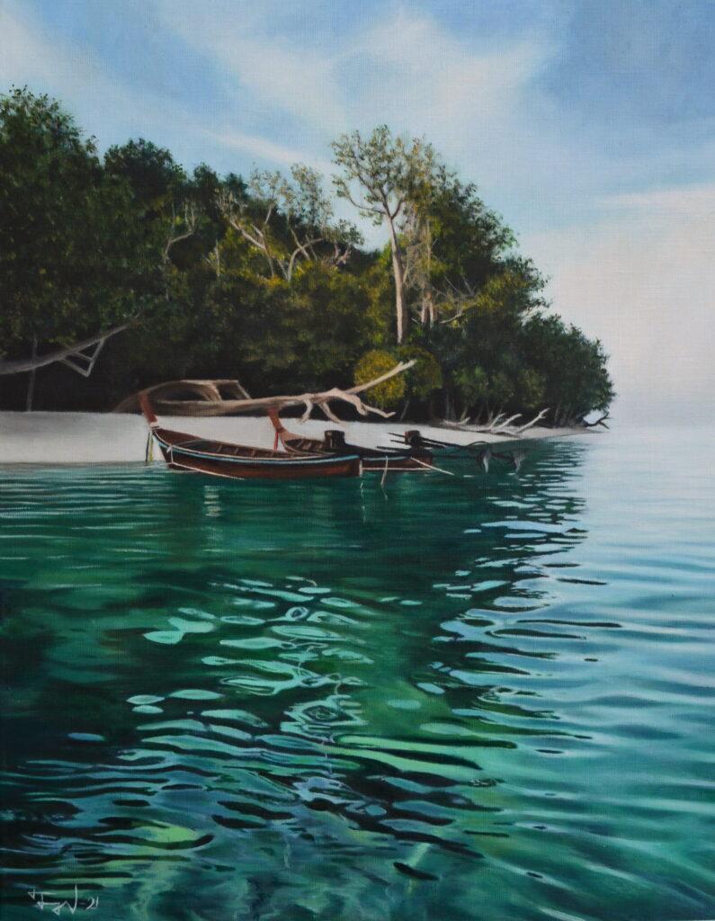 landscape painting, thailand
