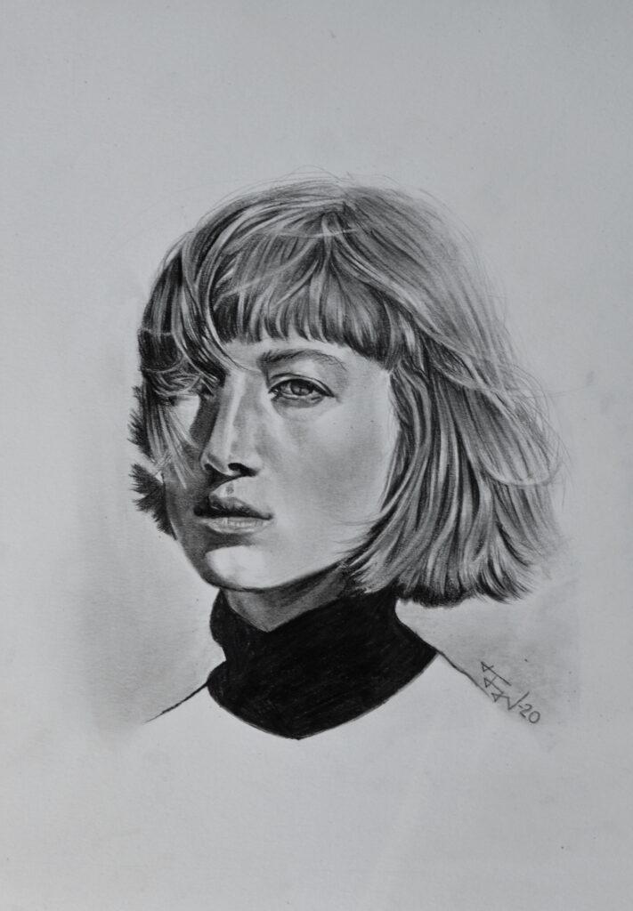 graphite drawing portrait