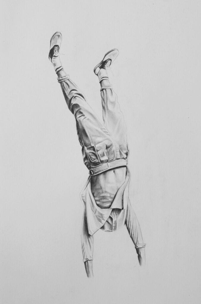 Graphite drawing figure